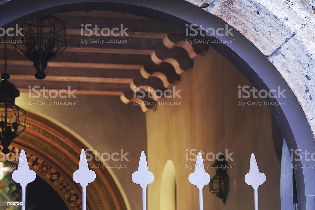 Mission Chapel Nave Architecture royalty-free stock photo