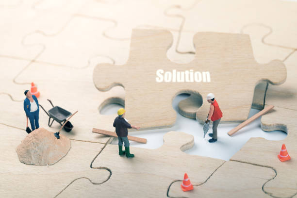 mission complete and problem solution concept stock photo