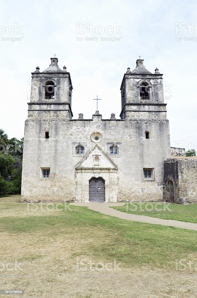 Mission Concepcion Front View San Antonio Missions National Historical Park royalty-free stock photo