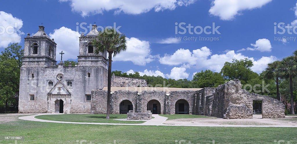 Mission Concepcion in San Antonio, Texas. royalty-free stock photo