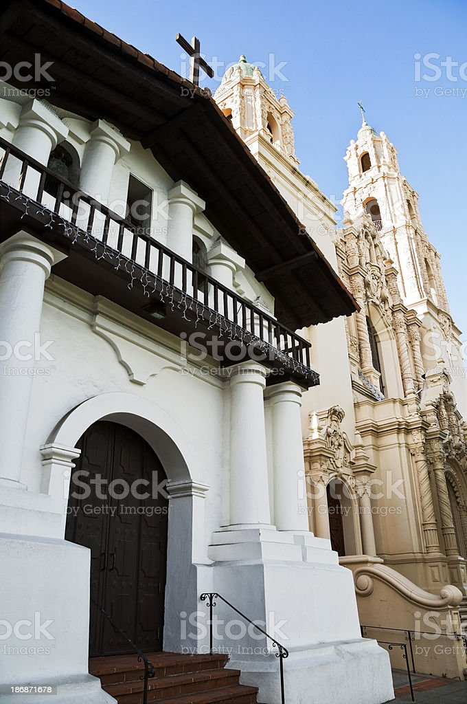 Mission Dolores in San Francisco stock photo
