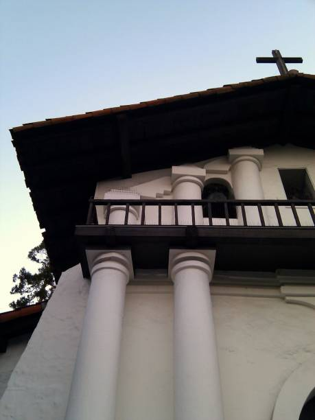 Mission Dolores old adobe facade stock photo
