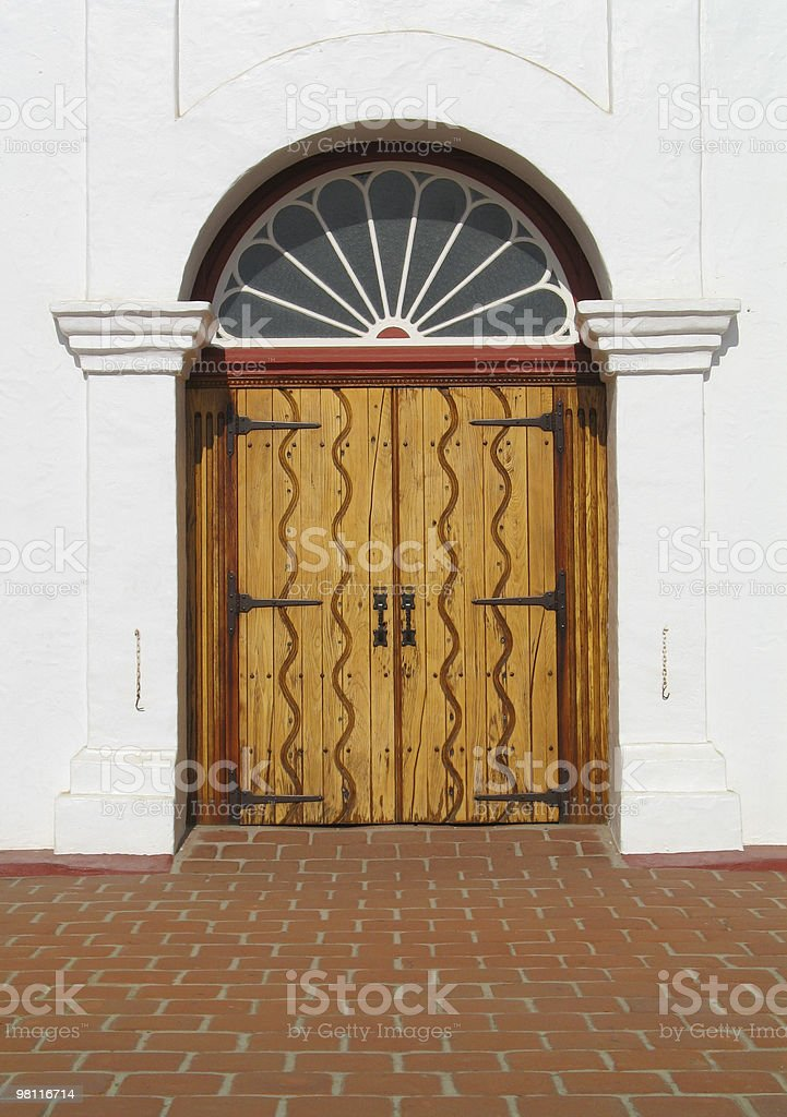 mission doors royalty-free stock photo