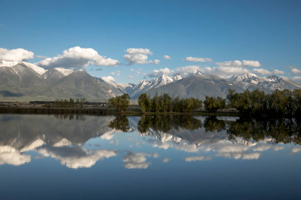 mission mountains in montana. - montana western usa stock pictures, royalty-free photos & images