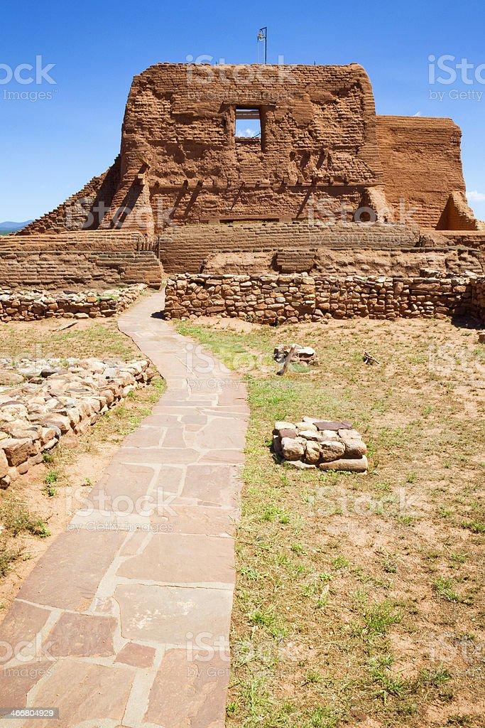 Mission Nuestra Señora los Ángeles Porciúncula - Pecos National Monument stock photo