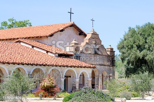 Mission San Antonio de Padua, the third of the California missions. Jolon, California, USA. National Register of Historic Places #76000504. California Registered Historical Landmark 232.