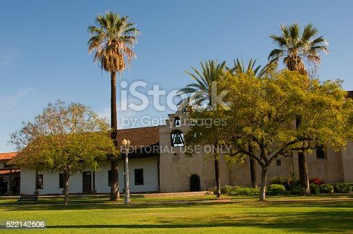 San Gabriel, California, USA-April 3, 2016: Photo of Mission San Gabriel , which is located in San Gabriel