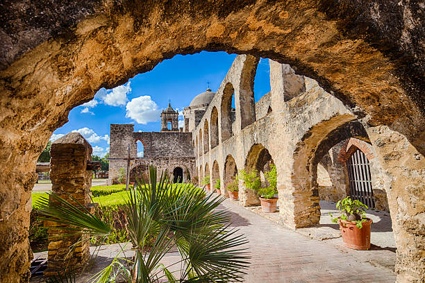 Mission San Jose In San Antonio, Texas The Mission San Jose was completed in 1782. san antonio texas stock pictures, royalty-free photos & images