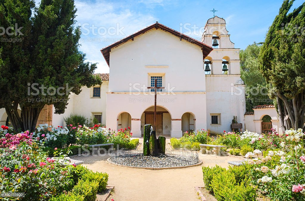 Mission San Juan Bautista State Historic Park stock photo