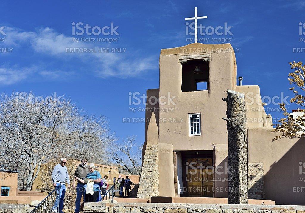 Mission San Miguel , Santa Fe royalty-free stock photo