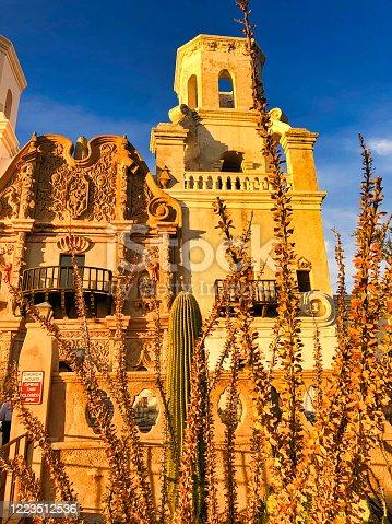 Mission San Xavier Del Bac in Tucson, Arizona, USA - image