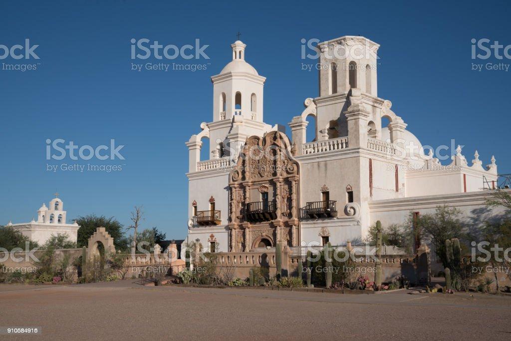 Mission San Xavier del Bac Tucson, Arizona stock photo