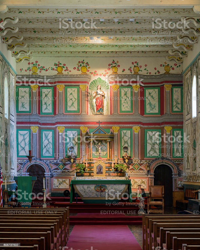 Mission Santa Ines stock photo