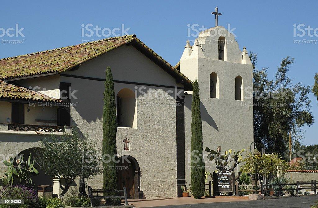 Mission Santa Ines Solvang,  historical landmark in California.  stock photo