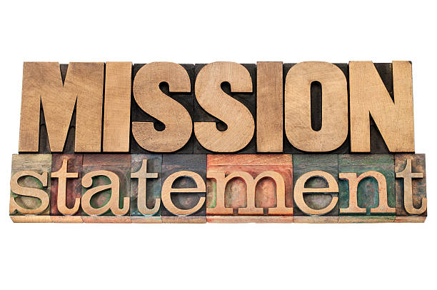 mission statement in wood type mission statement - business concept - isolated text in letterpress wood type printing blocks bank statement stock pictures, royalty-free photos & images