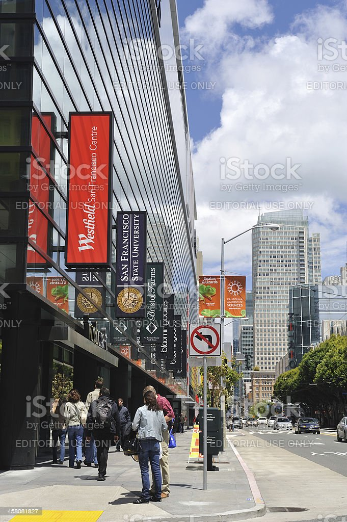 Mission Street in San Francisco stock photo
