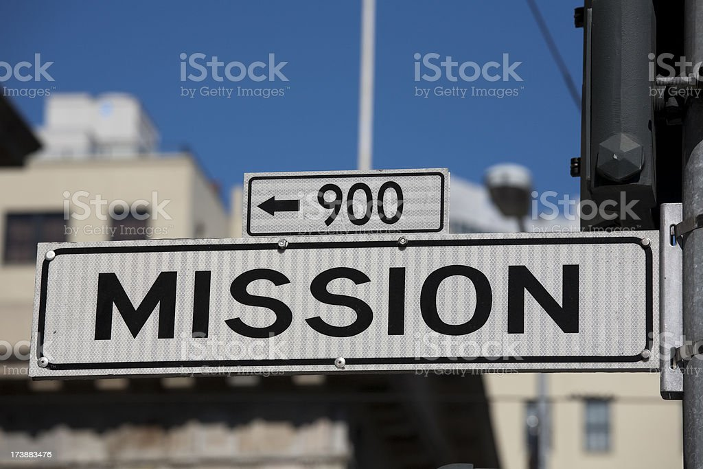 Mission Street San Francisco Famous Places royalty-free stock photo