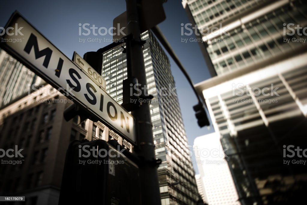 Mission Street Sign, San Francisco royalty-free stock photo