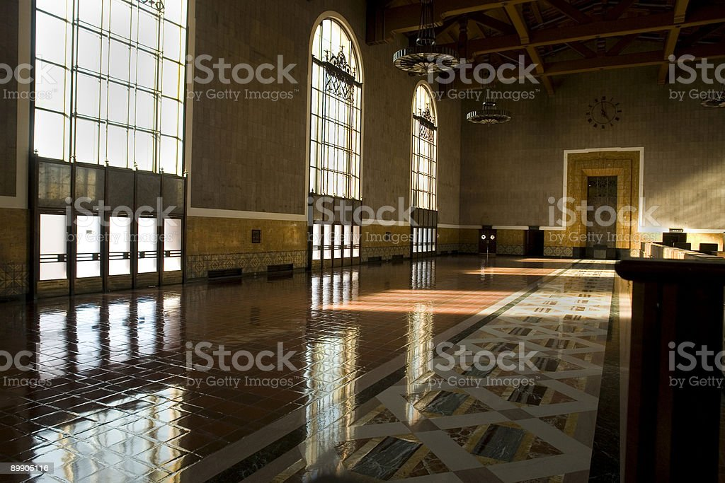 Mission Style Grand Lobby royalty-free stock photo