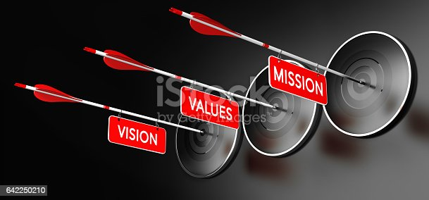 istock Mission, Vision and Values Statements 642250210