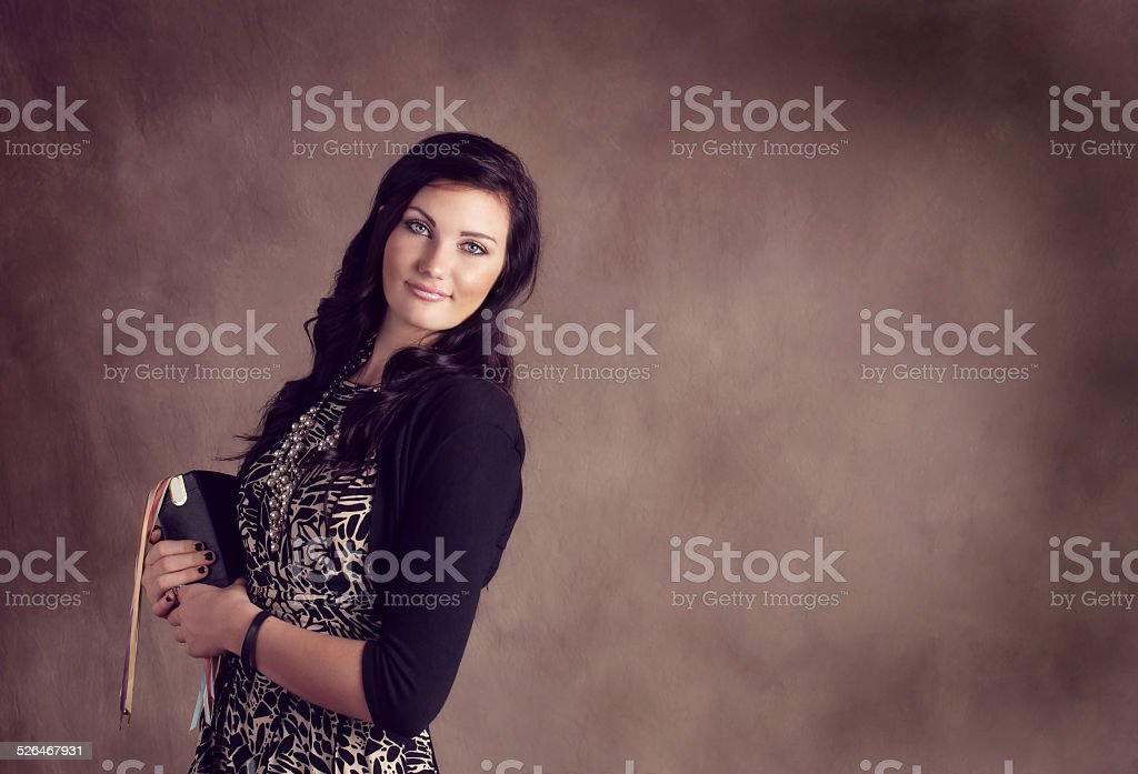 LDS Missionary female stock photo
