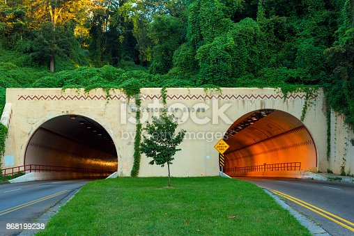 Missionary Ridge tunnel carries traffic on U.S. 64 in and out of Chattanooga, Tennessee
