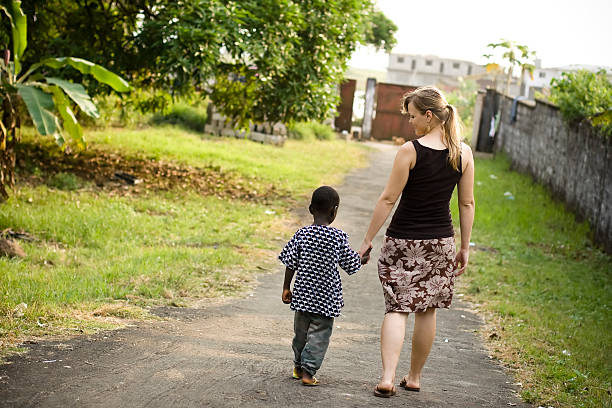 Missionary with Child stock photo