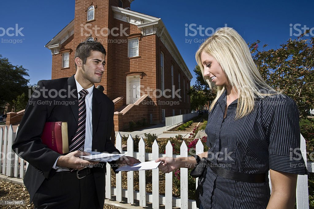 Missionary Work Spreading Religion royalty-free stock photo