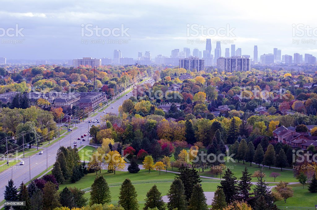 Mississauga Fall stock photo
