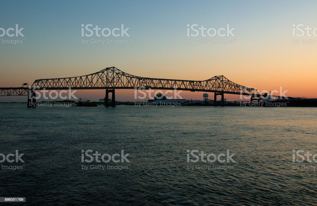 Mississippi bridge stock photo