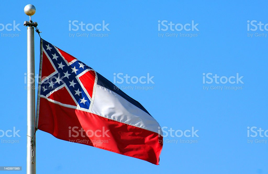 Mississippi Flag stock photo