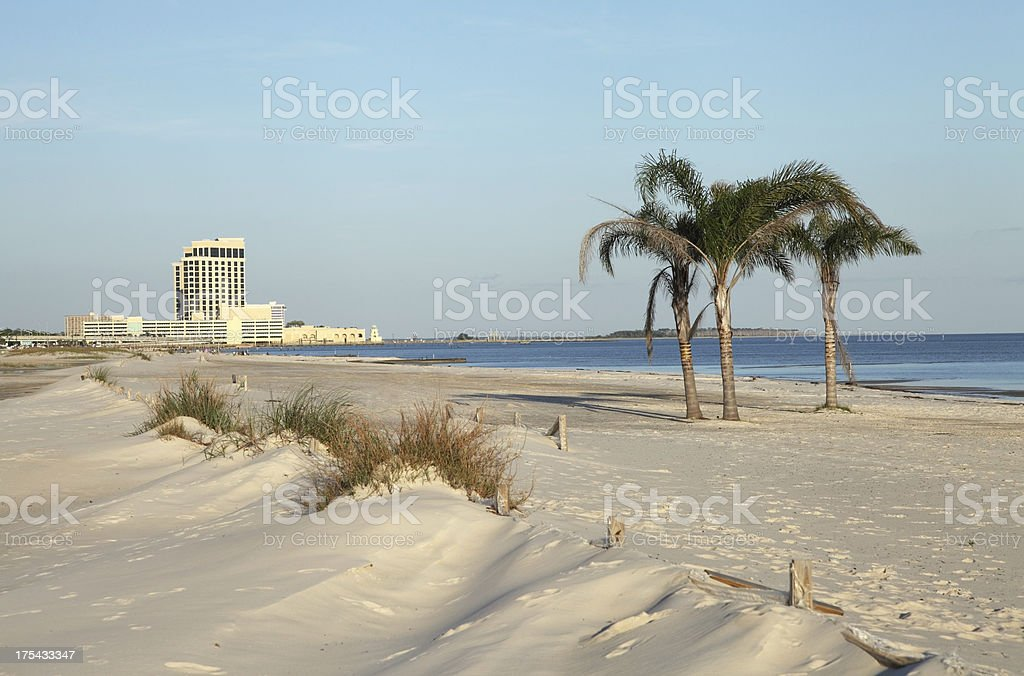 Mississippi Gulf Coast Beach stock photo