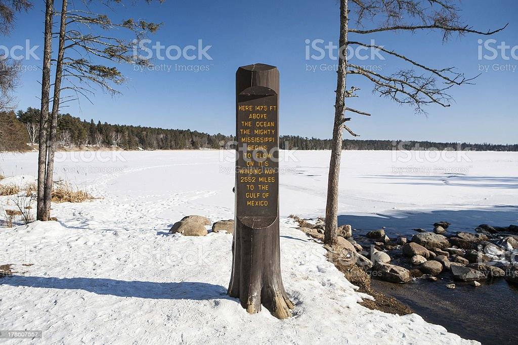 Mississippi headwater stock photo