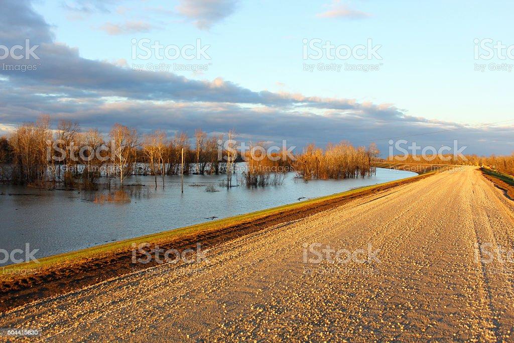 Mississippi River Flood stock photo