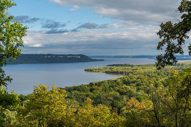 Mississippi River Lake Pepin stock photo