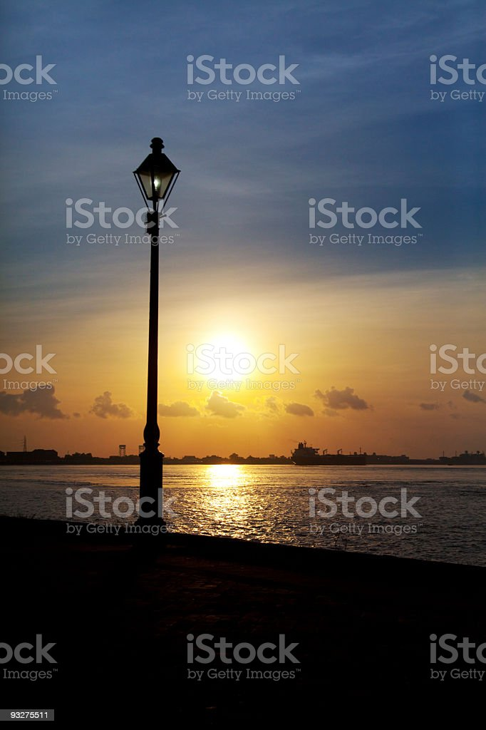 Mississippi River Sunrise royalty-free stock photo