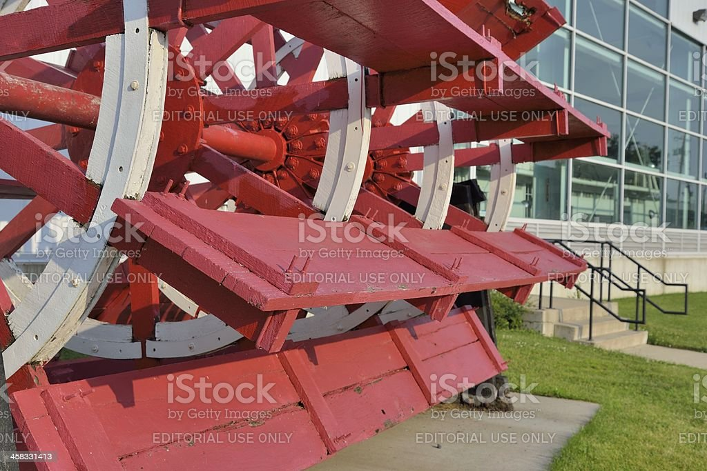 Mississippi Riverboat Wheel stock photo