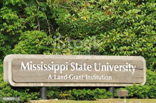 istock Mississippi State University sign 458669115