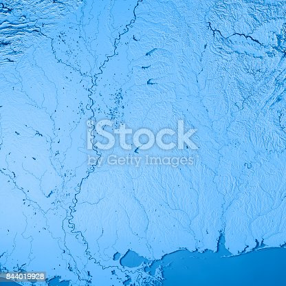 186815169istockphoto Mississippi State USA 3D Render Topographic Map Blue 844019928