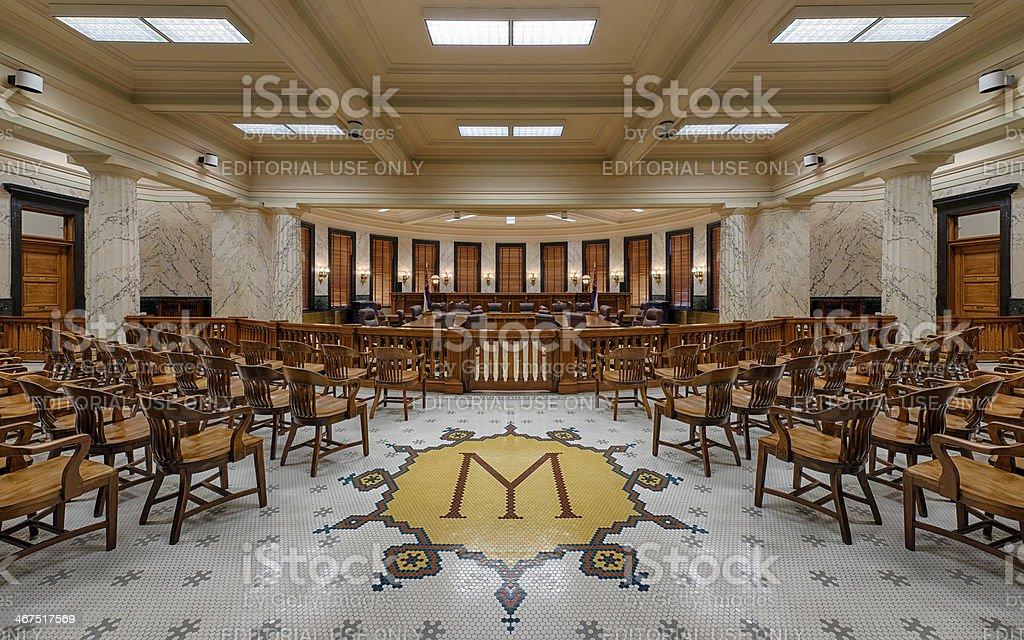 Mississippi Supreme court chamber stock photo