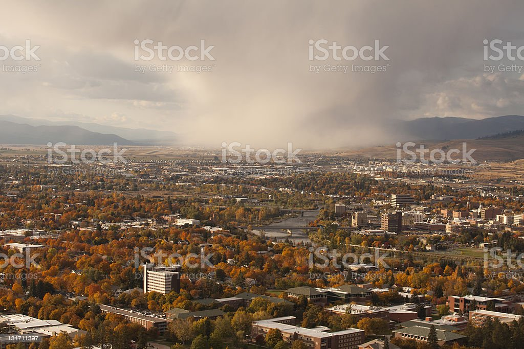 Missoula in the fall stock photo