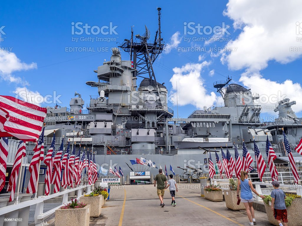 USS Missouri battleship museum stock photo