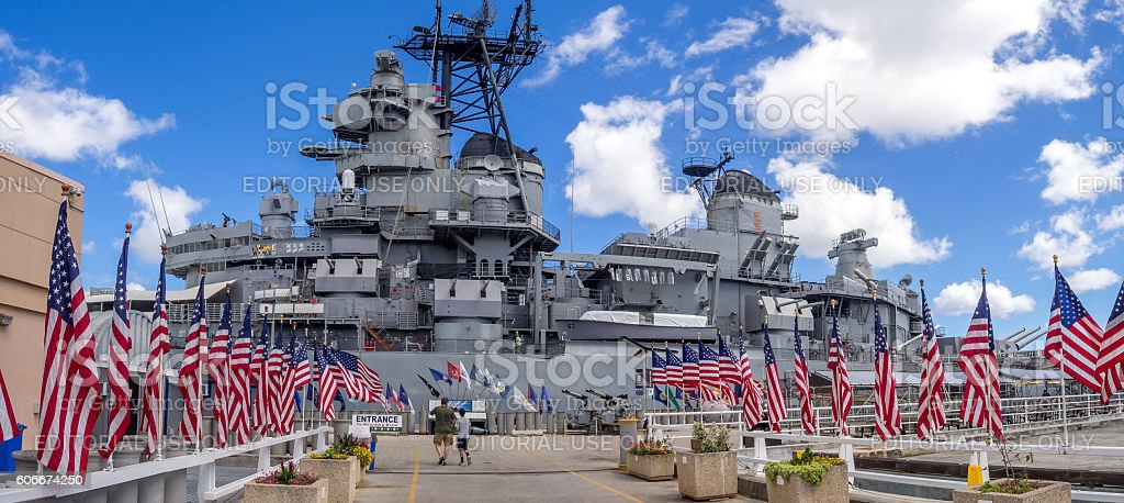 USS Missouri battleship museum stock photo
