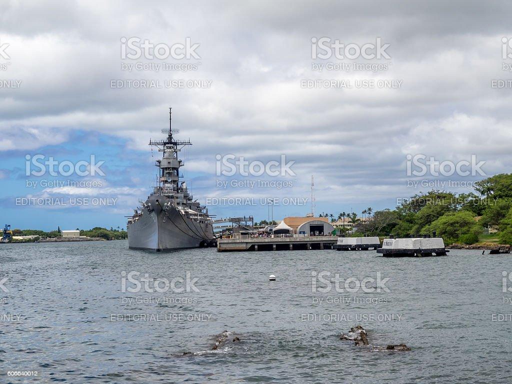 SS Missouri battleship stock photo