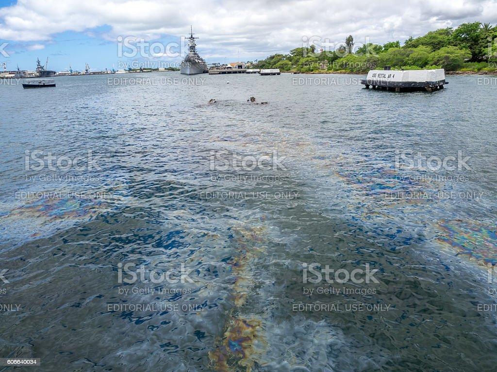 USS Missouri battleship stock photo