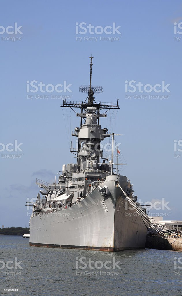 USS Missouri stock photo