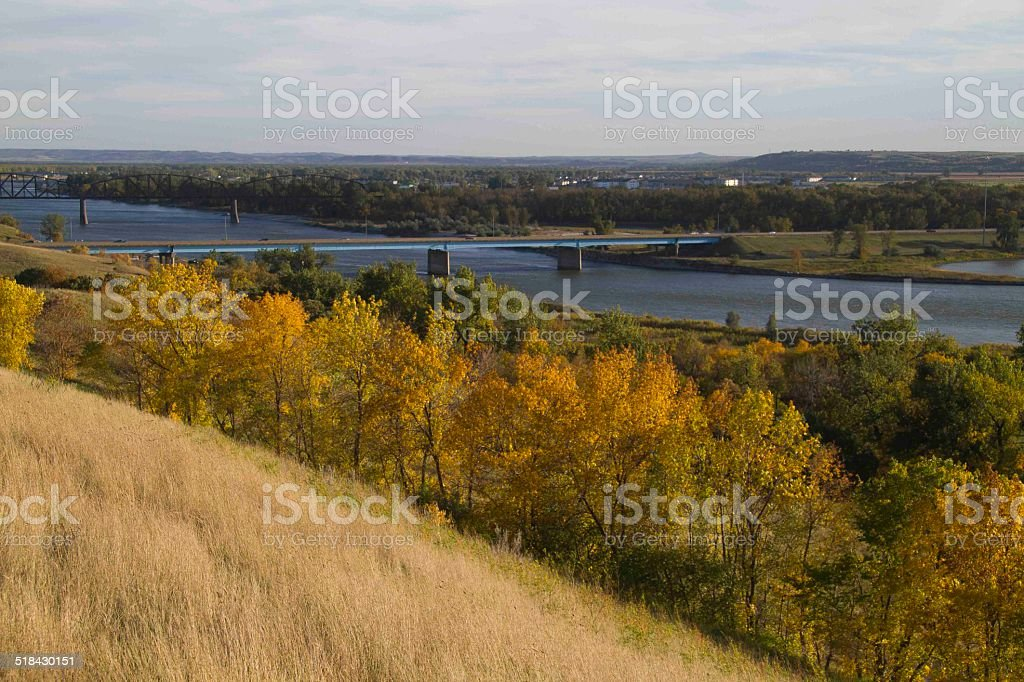 Missouri River Bismarck, ND stock photo