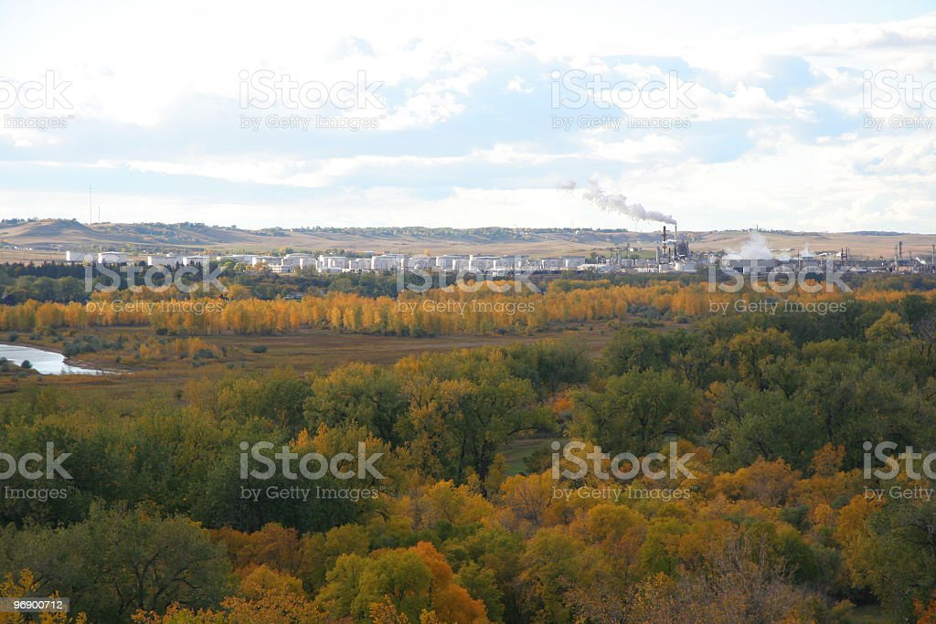 Missouri River Colors In Fall stock photo