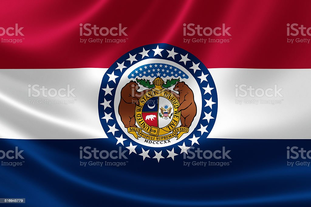 Missouri State Flag stock photo