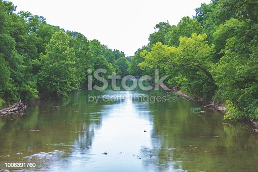 Lush Green Flowing Water Background in Missouri in Sunny Summer in the Fertile River Bottom of James River Valley  (photos professionally retouched and filters applied as needed - Lightroom / Photoshop - original size 8688 x 5792 canon 5DS Full Frame) iStock Portfolio: http://bit.ly/eyecrave_istock Getty Images Portfolio: http://bit.ly/eyecrave_getty